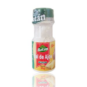 peruvian-spices-batan-Seasoned salt-Garlic salt powder-sal-ajos-frasco-jar-garlic